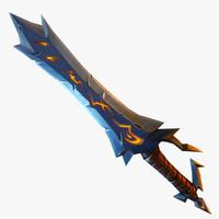 3d sword polys hand model