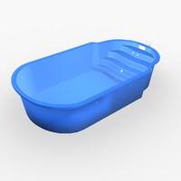 3d model garden pool