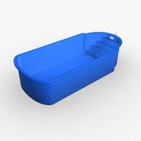 3d garden pool model