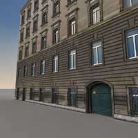 3d obj european building europe