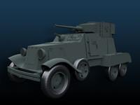 tank wwii 3d obj
