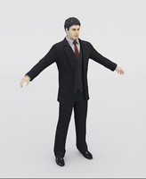 3ds max realistic man suit