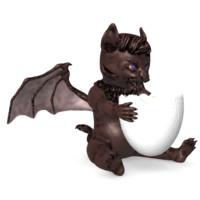 3d fantasy cat