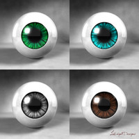 eyes lighting scene 3d model