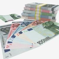 blender euro banknotes - 5€