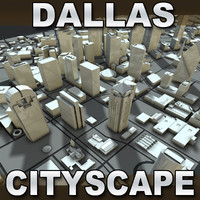 dallas city 3d max
