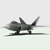 f-22 raptor fighter aircraft 3d model