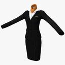 Women's Business Suit 3D models