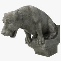 3d model gargoyle dog statue