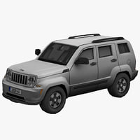 Jeep Liberty Low Poly