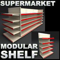 supermarket super market 3d model