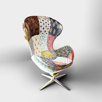 kare design Swivel Chair Lounge Flower Surprise