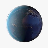 3d model planet earth