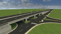 3ds max bridge highway