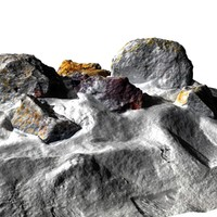 stones desert rock 3d 3ds