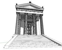 3d ellenistic temple model