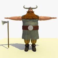 3d jake medieval viking cartoon