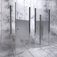 3d shower door glass
