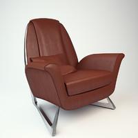 3d model armchair luft