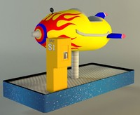 childrens space ship ride 3d obj