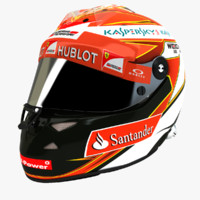 3d model f1 schuberth helmet kimi