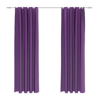 3d model violet curtains