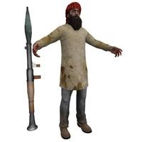 taliban terrorist man 3d model
