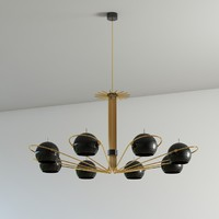 3d model of neil suspension lamp