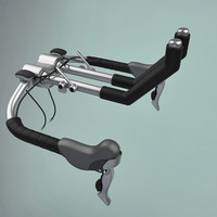 3d model steering wheel bike
