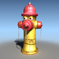cartoon hydrant toon 3d model