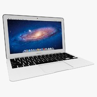 3d model macbook air 2011 11-inch