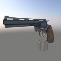 3d revolver bullets model