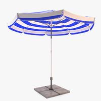 3d model sun umbrella