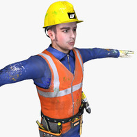 worker tools ready 3d model