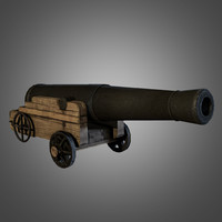 3d model civil war cannon