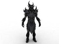 cinema4d daedric armor