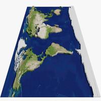 flat globe mth-01 3d max