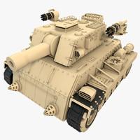 3d model generic modern tank