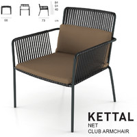 3d max kettal net club armchair