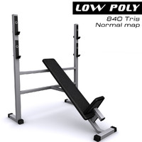 3d model athletic bench gym
