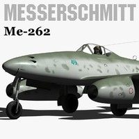 3d model messerschmitt me-262