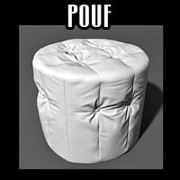 pouf interior 3d obj