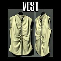 3d woman s vest model
