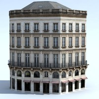 building exterior bake shadows 3d model