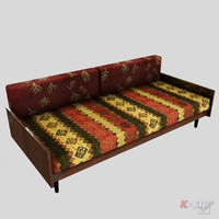 3d model of sofa retro