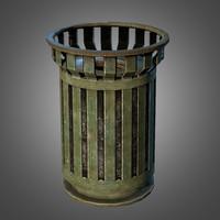maya trash bin