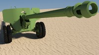russian antitank 2015 3d model