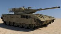 3d tank merkawa israel 2015 model