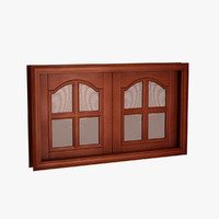 classic wood window 3d model