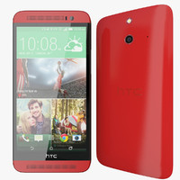 realistic htc e8 red 3d max